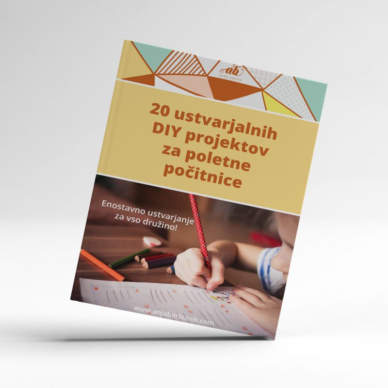 Get your downloadable book of 20 artistic kids projects for summer holidays