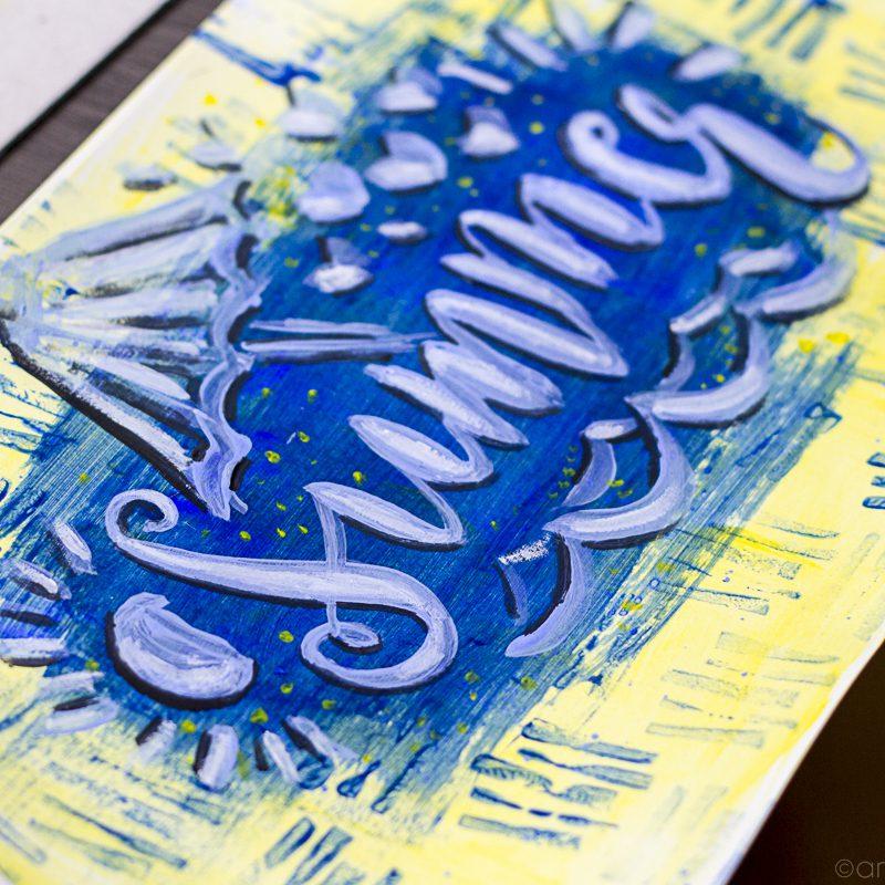 DIY izdelaj štampiljko, pobarvaj podlago in naredi napis