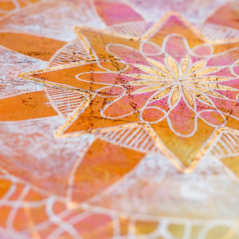 Mandala of positive thoughts