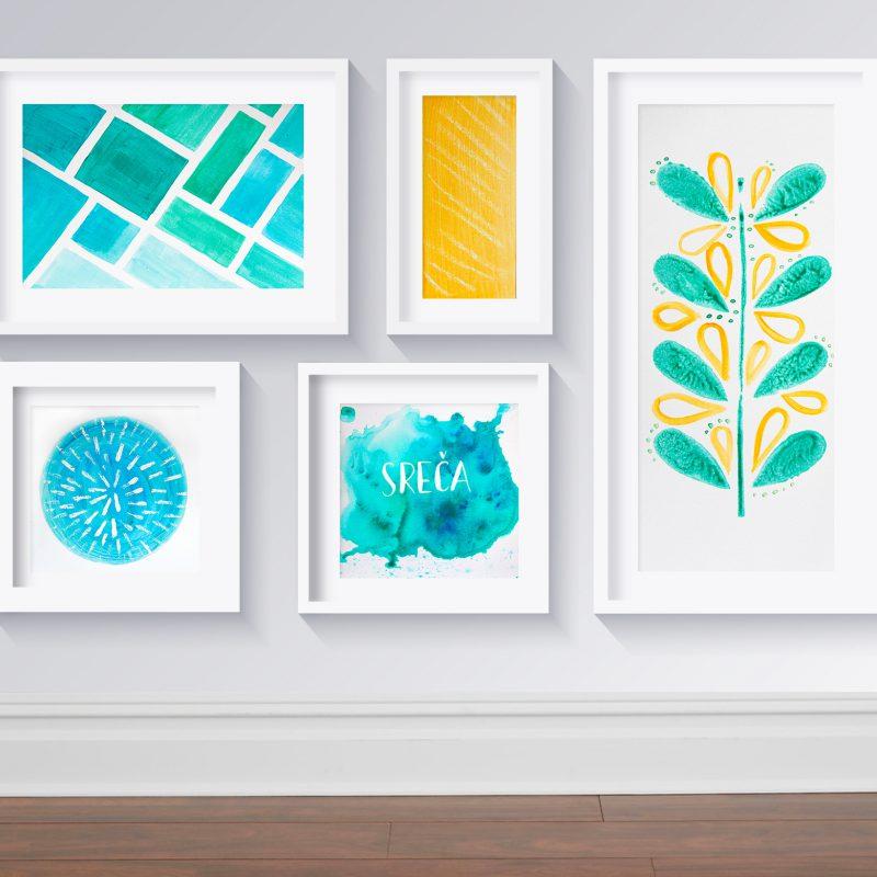 DIY wall gallery
