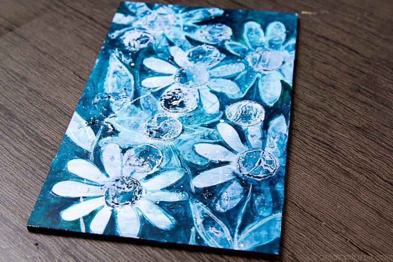 DIY ustvarjanje teksture s šablono