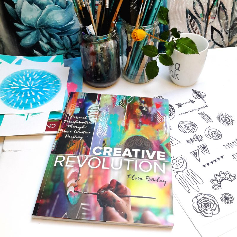 Brave intuitive painting with Flora Bowley